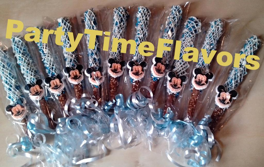 Mickey Mouse Baby Shower Chocolate Covered Pretzels